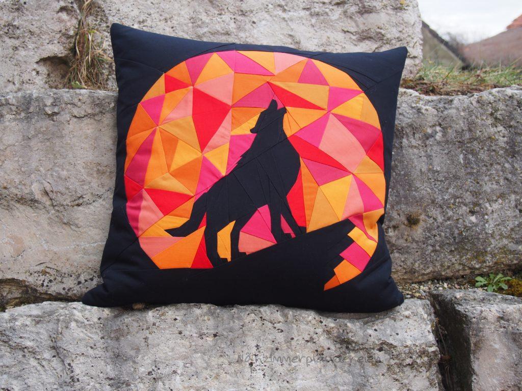 Der heulende Wolf – ein Kissen | Nähzimmerplaudereien